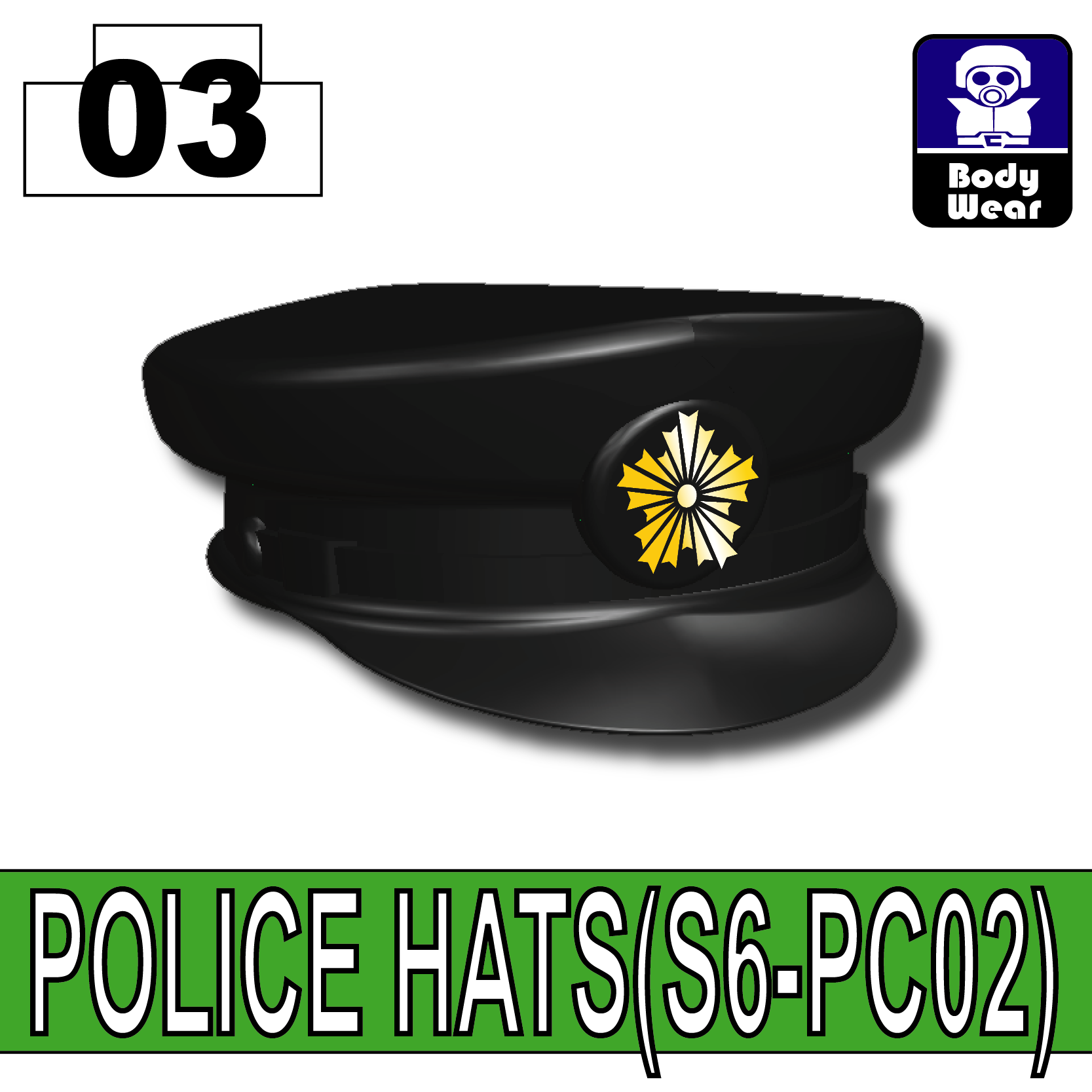 Black_POLICE HATS(S6-PC02)