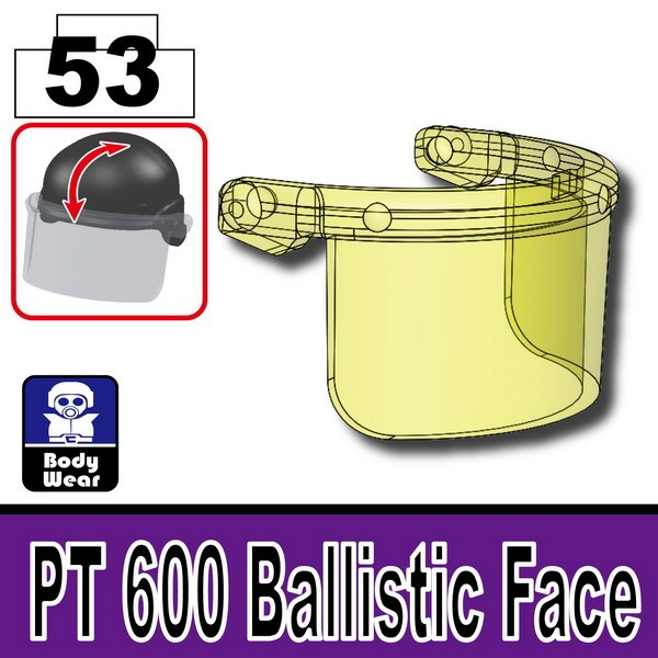 Transparent Yellow_PT 600 Ballistic Face