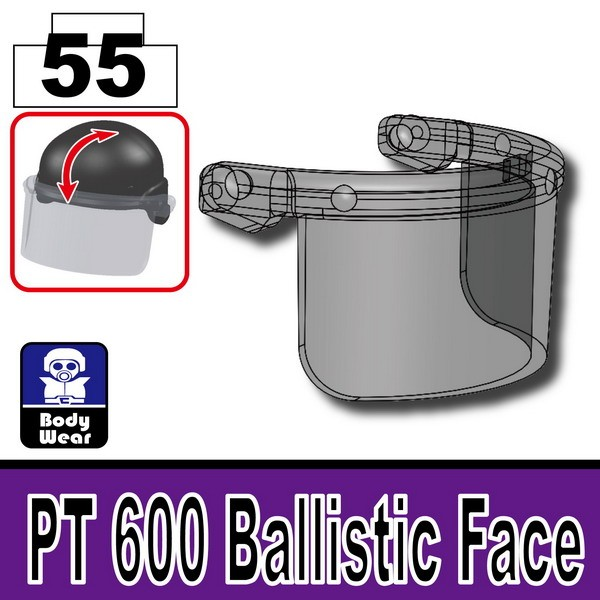 Transparent Black_PT 600 Ballistic Face