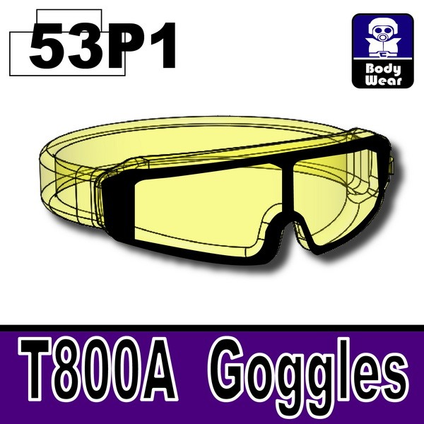 Teansparent Yellow53P1_T800A Goggles