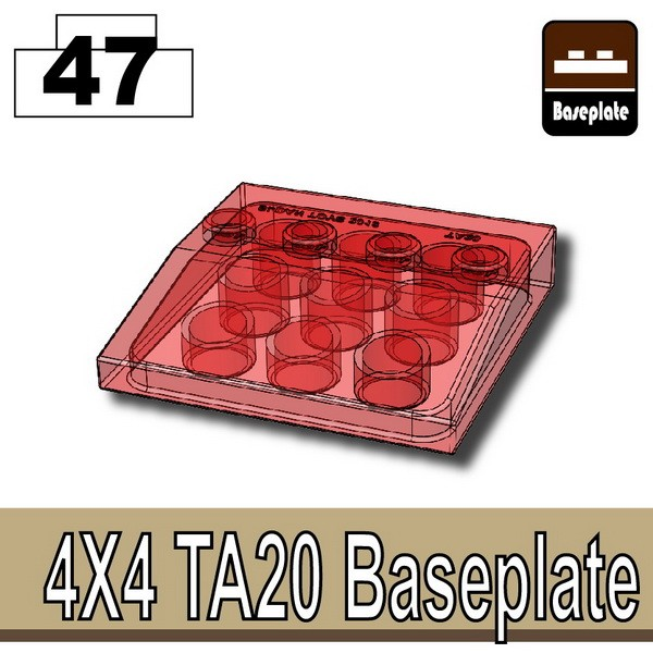 Transparent Red_4x4 TA20 Baseplate