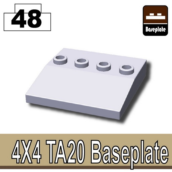 Light Silver_4x4 TA20 Baseplate