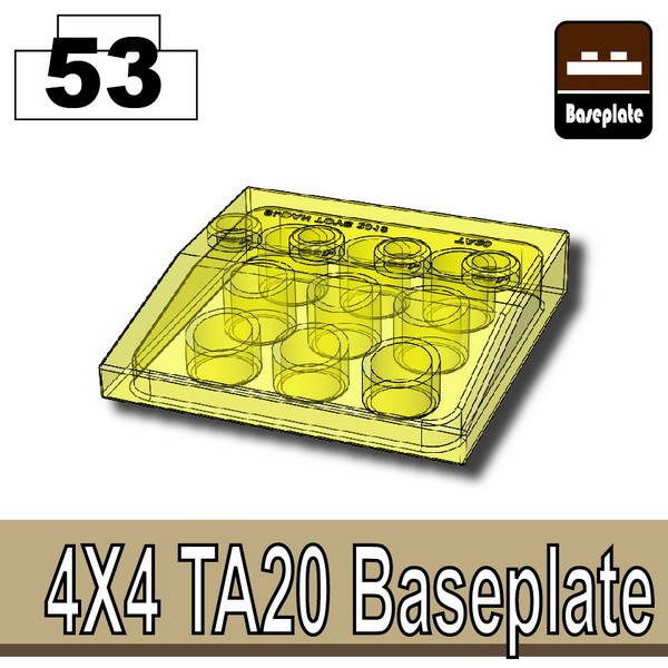 Transparent Yellow_4x4 TA20 Baseplate