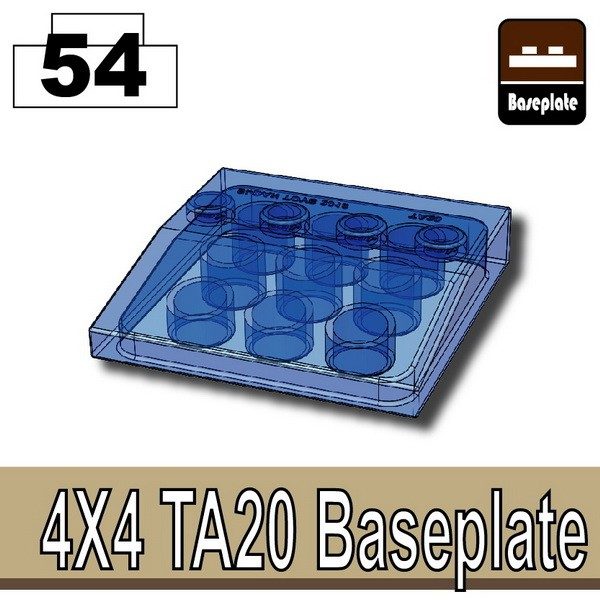 Transparent Blue_4x4 TA20 Baseplate