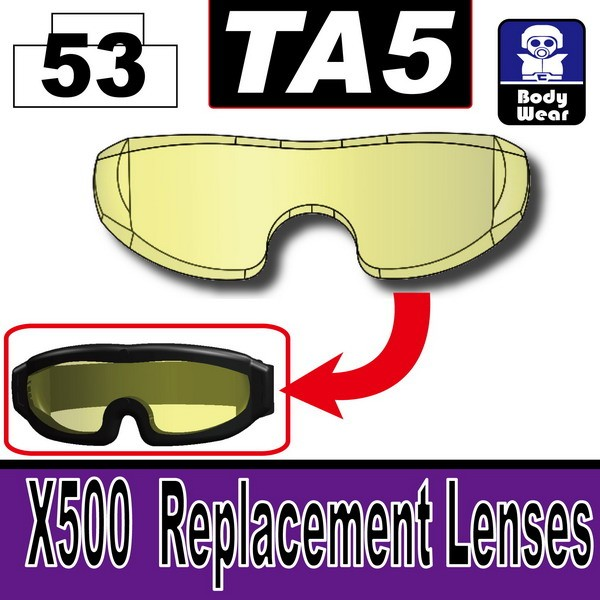 Transparent Yellow_TA5(X500  Replacement Lenses)