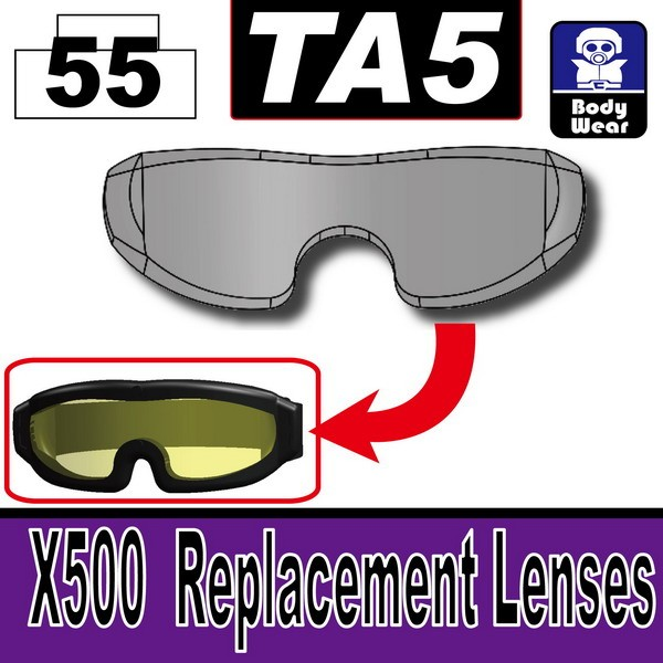 Transparent Black_TA5(X500 Replacement Lenses)