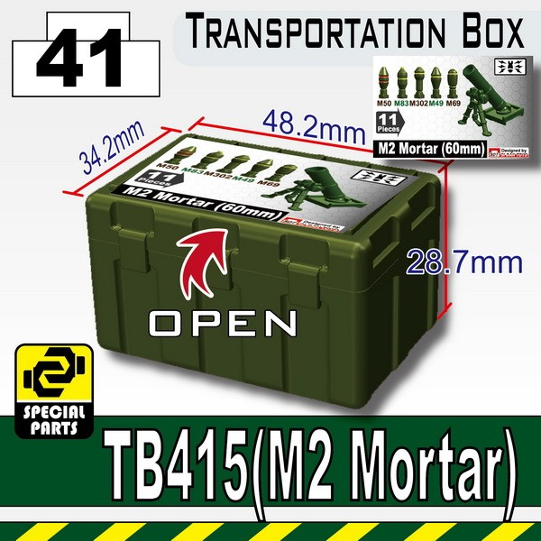 Tank Green_TB415(Transportion Box-Printed M2 Mortar)