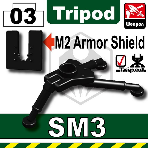 Black_SM3 Tripod+M2 Armor Shield