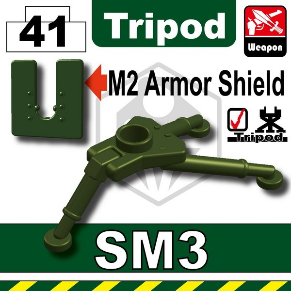Tank Green_SM3 Tripod+M2 Armor Shield