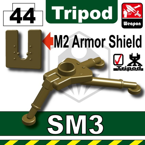 Dark Tan-2_SM3 Tripod+M2 Armor Shield