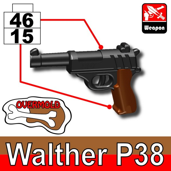 Pearl Dark Black+Brown(4615)_Walther P38