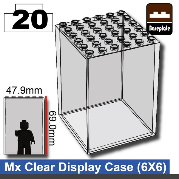 Mx Clear_Display Case(6X6)