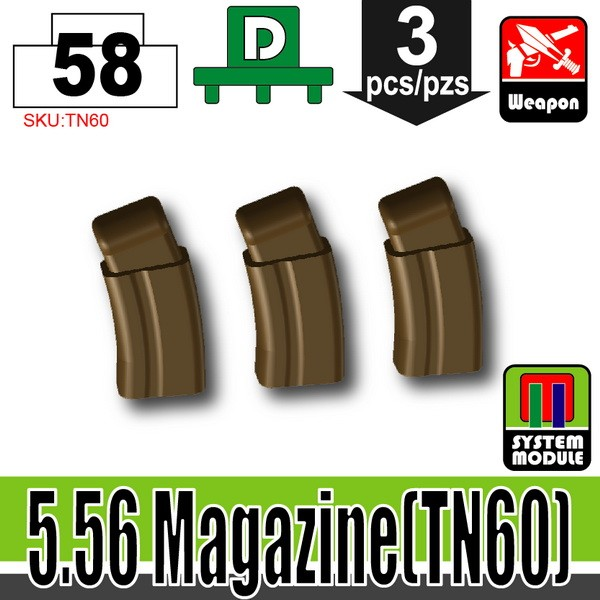 (58)Deep Bronze Brown_5.56 Magazine(TN60)