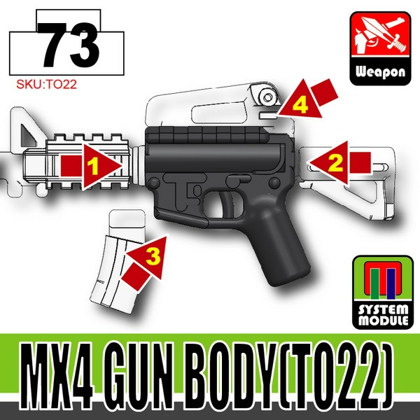Combat Black_MX4 Gun Body(TO22)