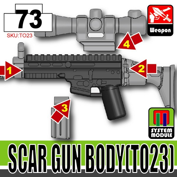 Combat Black_SCAR Gun Body(TO23)