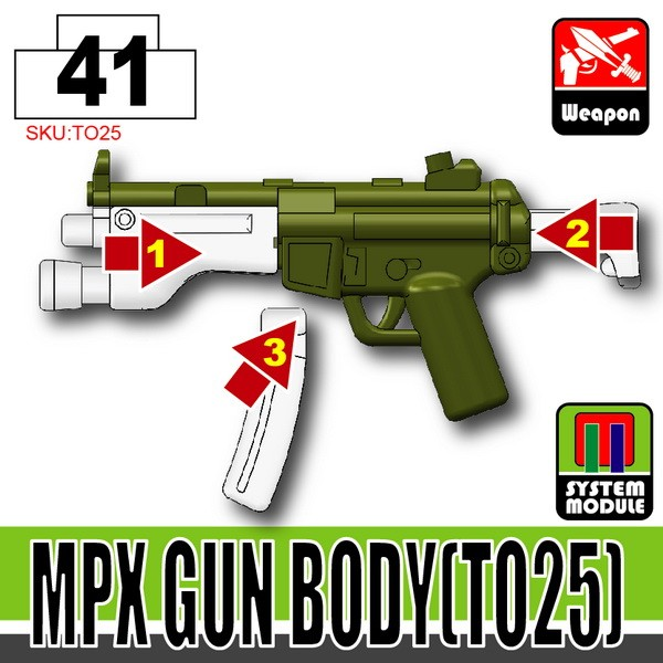 Tank Green_MPX Gun Body(TO25)