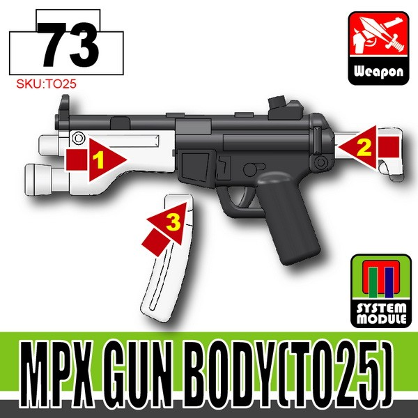 Combat Black_MPX Gun Body(TO25)