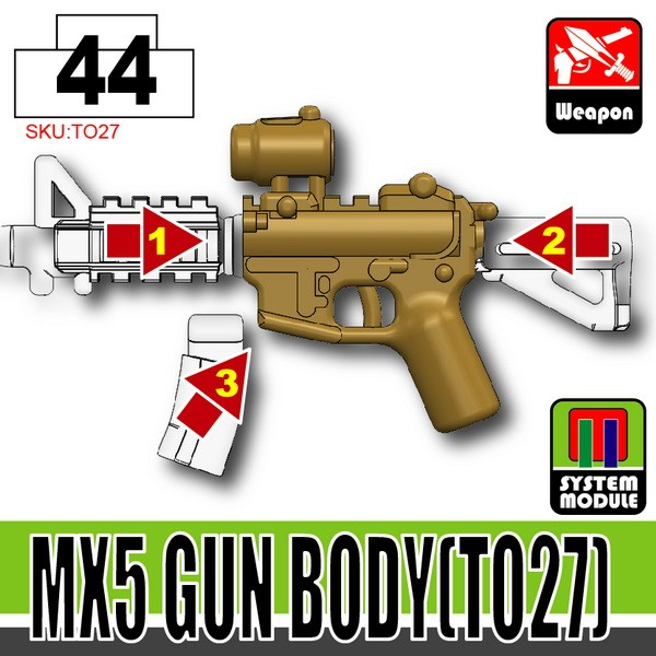 Dark Tan_MX5 Gun Body(TO27)