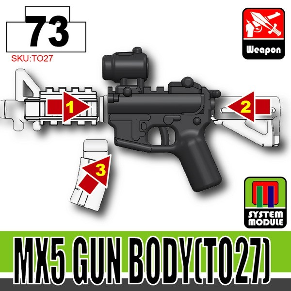 Combat Black_MX5 Gun Body(TO27)