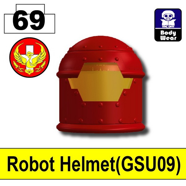 Blood Red6953_Robot Helmet(GSU09)