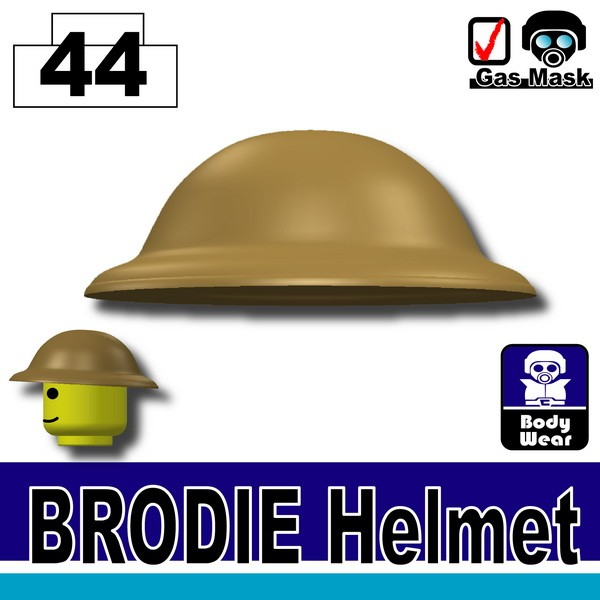 (44)Dark Tan_Brodie Helmet