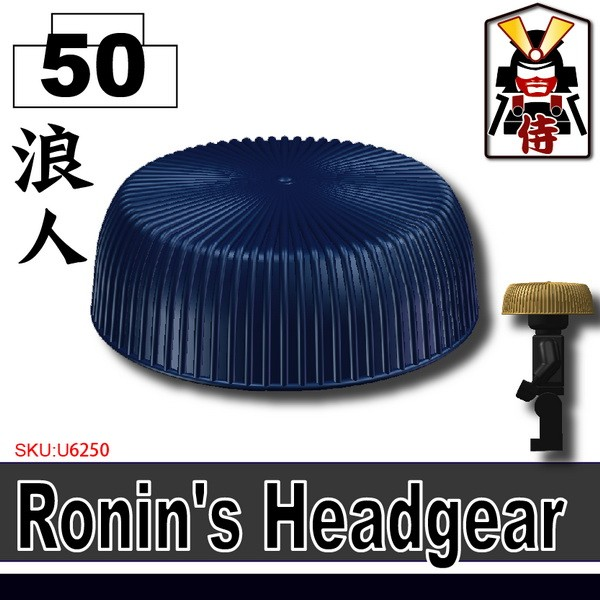 (50)Dark Blue_Ronin's Headgear