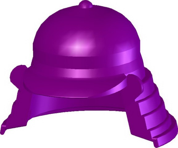 Samurai Headgear (B) -Purple