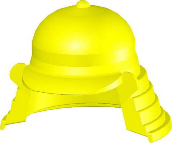 Samurai Headgear (B) -Yellow