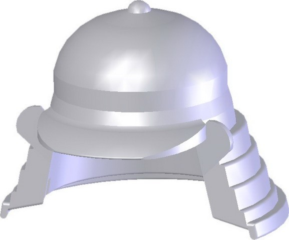 Samurai Headgear (B) -Pearl Light Gray