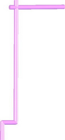 Samurai Banner Flag Pole -Bright Pink