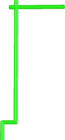 Samurai Banner Flag Pole -Lime