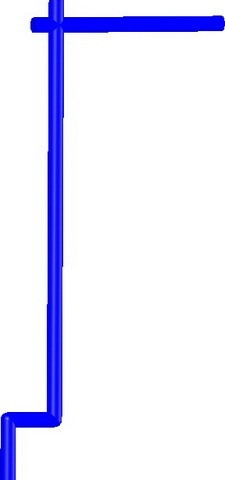 Samurai Banner Flag Pole -Blue