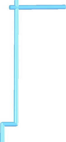 Samurai Banner Flag Pole -Medium Blue