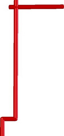 Samurai Banner Flag Pole -Dark Red