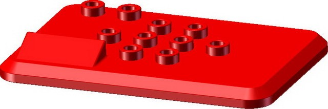 Red 6*4cm Baseplate with name board