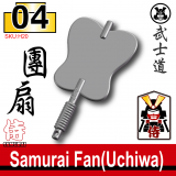 (04)Dark Gray_Samurai Fan(Uchiwa)