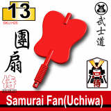 (13)Red_Samurai Fan(Uchiwa)