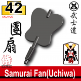 (42)Iron Black_Samurai Fan(Uchiwa)