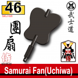 (46)Pearl Dark Black_Samurai Fan(Uchiwa)