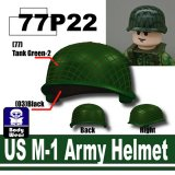 SP Green_US M-1 Army Helmet-P22