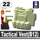 (22)Sand Green_Tactical Vest(B12)