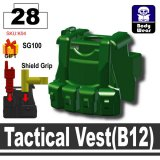 (28)Dark Green_Tactical Vest(B12)
