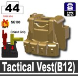 (44)Dark Tan-2_Tactical Vest(B12)