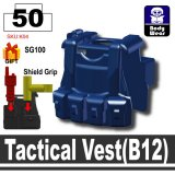 (50)Dark Blue_Tactical Vest(B12)
