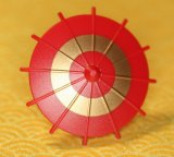 Japanese Umbrella -Dark Red (Gold Circle)-(Printed parts-EP1601)