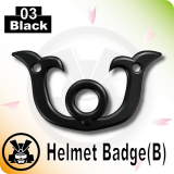 Helmet Badge(B) -Black