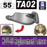 (55)Transparent Black_TA02(HGU-56 Replacement Lenses)