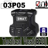 (03P05)Black_Tactical Vest(B20)-SWAT