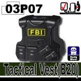 (03P07)Black_Tactical Vest(B20)-FBI