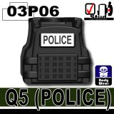(03P06)Black_Tactical Vest(Q5)-POLICE